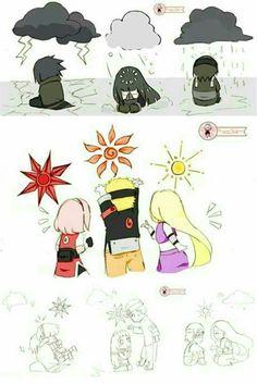 Luz na escuridão (SasuSaku, NaruHina e SaiIno) Naruto Uzumaki Shippuden, Naruto Kakashi, Anime Naruto, Naruto Shippuden Characters, Naruto Teams, Naruto Comic, Naruto Cute, Otaku Anime, M Anime