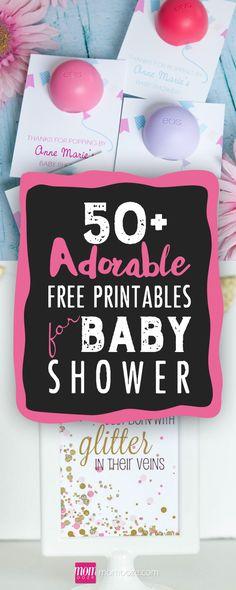 100+ Stunning Printable Baby Shower Invitations #babyshower #printables
