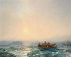 Лед на Днепре 1872. Иван Константинович Айвазовский