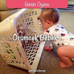Sevgili anneler bugünün oyunu Örümcek Bebek  Çamaşır sepeti yeşillik kurutucu…