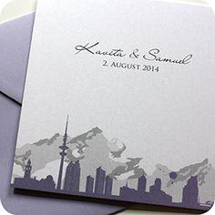 Einladungskarte Hamburg Schweiz, Einladung Für Hochzeit, Individuell  Designed By Die Kartenfrau