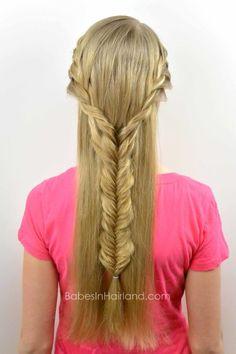 Boho Braid from BabesInHairland.com #braids #hair #boho #fishbonebraid #frenchbraid