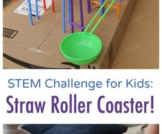 STEM Challenge for Kids:  Build a Straw Roller Coaster!