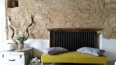 Casa Colognola. Contemporary modern rustic stone house. Renovation in Le Marche Italy. Stone, wood & white Rent Casa Colognola on AirBnb or Boutique Homes
