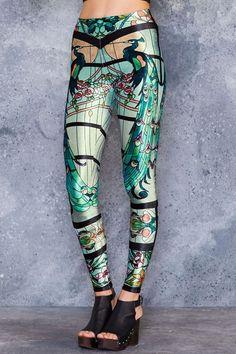 Black Milk Clothing. Glass Garden High Waisted Velvet Leggings - 48hr. Size M