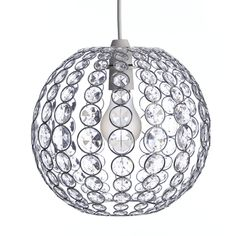 Wilko Simone Pendant Non Electric Shade 3 Tier | Simone ...:Wilko Beaded Oval Pendant Shade Clear..for downstairs hallway to brighten  and add light,Lighting