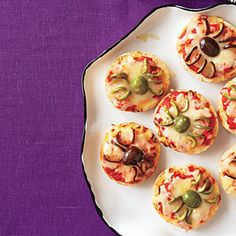 Spider Bagel Pizza Bites | MyRecipes.com