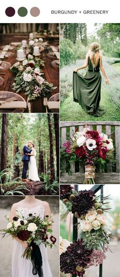 burgundy and greenery fall wedding color ideas 2017 #weddingphotography