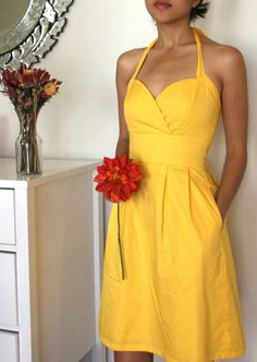 Fab yellow halter for a bridesmaids or a summer date from Seven Blooms in my hometown of NYC.