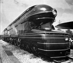 (185) Fancy - Pennsylvania Railroad S1 6100 steam engine (1939) Raymond Loewy