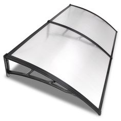 6.5ft Awning Patio Cover Rain Protection Window Clear Black