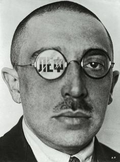 Александр Родченко. «Осип Брик», фотомонтаж(Caricature showing Osip Brik. Variant of a cover for the by Alexander Rodchenko on Curiator – http://crtr.co/1zii