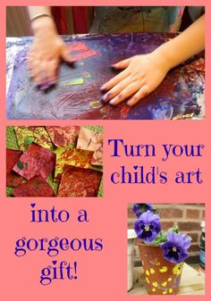 Love this idea for turning child's art into gifts - adding to my Christmas list!