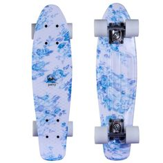 "Hot Sale Skull Floral Print Brush Street Drift 22"" Skateboard Complete Skateboarding Mini Longboard Boy Girl Cruiser Skate Board"