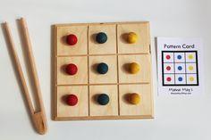 Pattern Board - A Montessori and Waldorf Inspired Classic Board Game. $45.00, via Etsy.