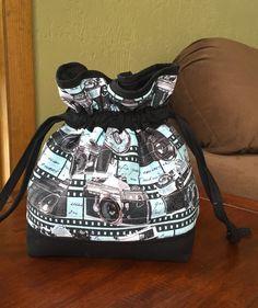 Padded lined drawstring bag -- sewing tutorial