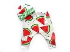 Watermelon ORGANIC cotton Clothing Set : Hat  Pants от MothersBaby