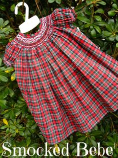 Traditional Plaid Smocked Bishop