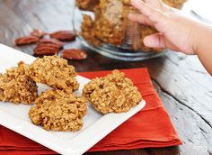 Pumpkin Spiced Oatmeal Pecan Cookies- Making these with TRACE FACE