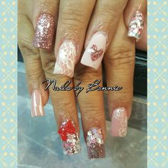 Breast cancer  awareness  nail  Pink