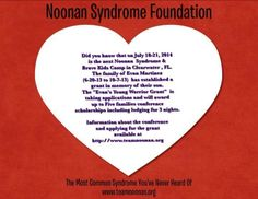 Day 16 of 28 days for Noonan Syndrome Awareness Fact...