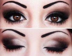 Almond shaped eyes. smokey-eye