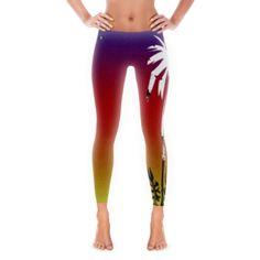 Palmy Sunset Leggings (textured)