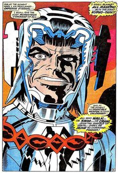 Silvermane spider man enemy on a leather chair guarded by man the marvelous splash pages of jack kirby fandeluxe Gallery