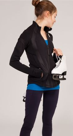 take over the ice in this tight–fitting jacket with Cuffins™ technology designed to keep your hands warm. | Storm The Rink Jacket