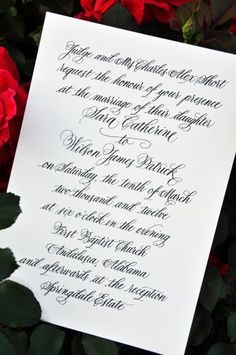 Calligraphy Wedding Invitations from Wiregrass Weddings