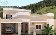 Cores de casas tendências para a pintura externa! Doce Obra Small House Layout, Small House Design, House Layouts, Pintura Exterior, Indian Home Design, Indian Homes, Home Design Plans, My House, House Plans