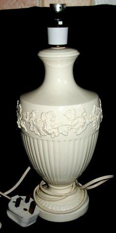 14  Wedgwood Embossed Creamware Lamp
