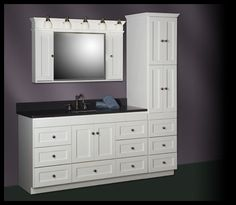 Strer Shaker 60 Vanity With Linen Tower