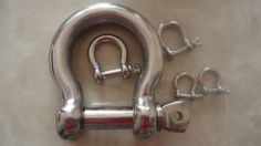 Stainless Steel Shackles. * Quality stainless steel fitting used in wire balustrading. * Other sizes available as well. List price: $3.00 #Stainless #steel #Shackles Handrail Brackets, Stainless Steel Fittings, Door Handles, Wire, Home Decor, Door Knobs, Decoration Home, Room Decor, Home Interior Design