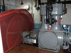 The Stevens Point Brewery's main engine ammonia compressor.