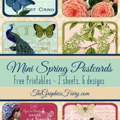 Spring Themed Mini Postcards