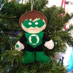 Green Lantern Christmas ornament by HebCrafts on Etsy. so cute! #christmastree #Christmas #superhero #decoration #gift