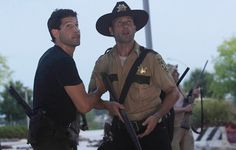 THE WALKING DEAD, SHANE AND RICK
