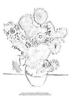 Para pintar: Girasoles - &copy Sara Lasso