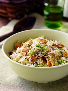 Crunchy Slaw - I think this would be great with some cold, grilled chicken or even rotisserie chicken.