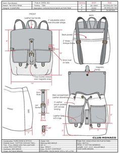 Pin by Andita Yuliana on Bags and rucksack Diy Leather Rucksack, Backpack Tutorial, Drawing Bag, Diy Tote Bag, Leather Pattern, Leather Backpack Pattern, Recycle Jeans, Denim Bag, Fabric Bags
