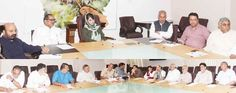 Chief Minister Mehbooba Mufti presiding over Cabinet meeting in Srinagar.