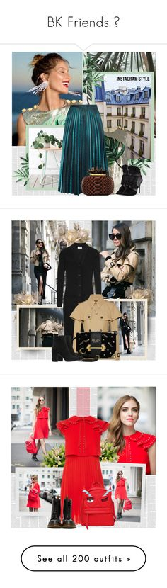 """BK Friends ♥"" by bklana ❤ liked on Polyvore featuring Dolce&Gabbana, Charles Jourdan, bklana, 60secondstyle, PVShareYourStyle, Acne Studios, Burberry, Prada, Gianvito Rossi and airportstyle"