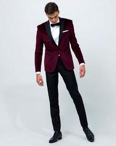 wedding suit on sale at reasonable prices, buy 2017 Airtailors Velvet Wine Red Peak Lapel Tuxedo/wedding Suit for men /Groom wear tuxedo jakcet only from mobile site on Aliexpress Now! Red Tuxedo, Groom Tuxedo, Tuxedo For Men, Tuxedo Suit, Classic Tuxedo, Groomsmen Suits, Men's Suits, Costume Bordeaux, Tuxedo Wedding Suit
