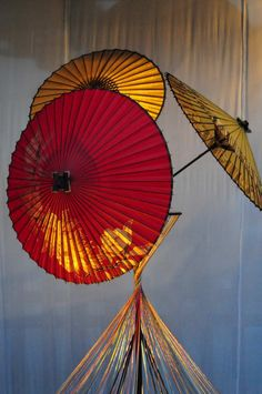 .red and yellow umbrella