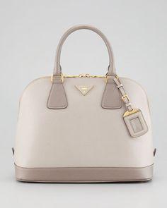 Prada Saffiano Bicolor Dome Bag