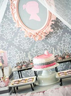 Tutu & Silhouette Baby Shower Theme decoration ideas for baby girl