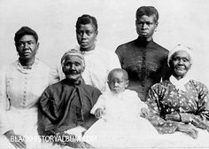 Portrait of six generations of African American women, Selma, AL, 1893. A strong history of African American Women.