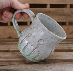 Handmade Stoneware Spring Mug by MovingMudPottery on Etsy
