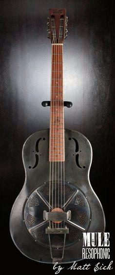 "frettedchordophones: ""Mule Resophonic Guitars"" Lardy's Chordophone of the day 2014 Bass Ukulele, Banjo, Making Musical Instruments, Resonator Guitar, Guitar Gifts, Steel Guitar, Cigar Box Guitar, Music Stuff, Music Things"